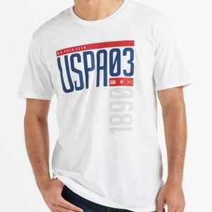 U.S. POLO VERTICAL LOGO MEN'S SHORT SLEEVE TSHIRT